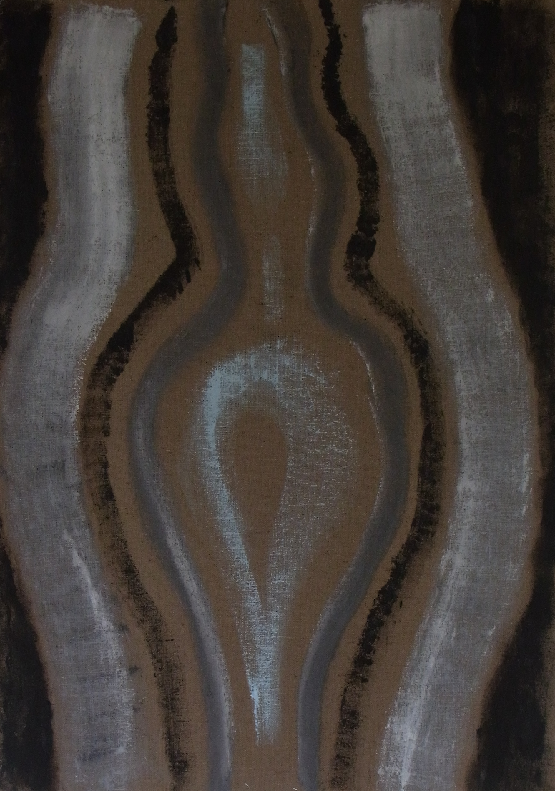 Untitled, oil on jute, 2015.
